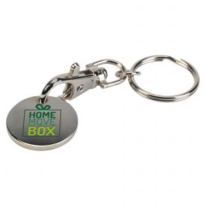 Trolley Coin Keyring